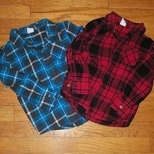 Other - Boys flannel shirts